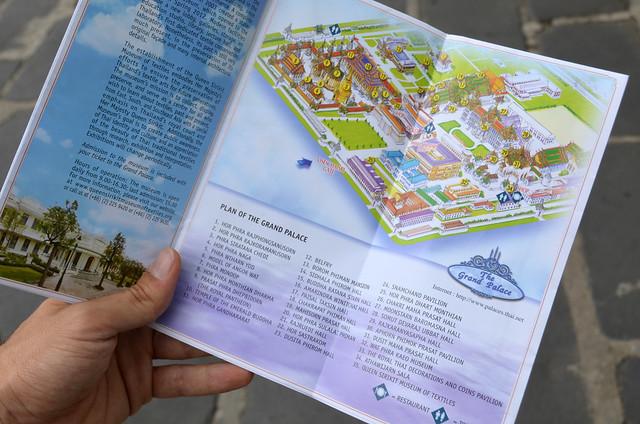 Plano del Gran Palacio de Bangkok
