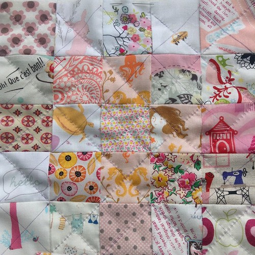 My machine is packed away for family Christmas get together today, so back to hand quilting ��