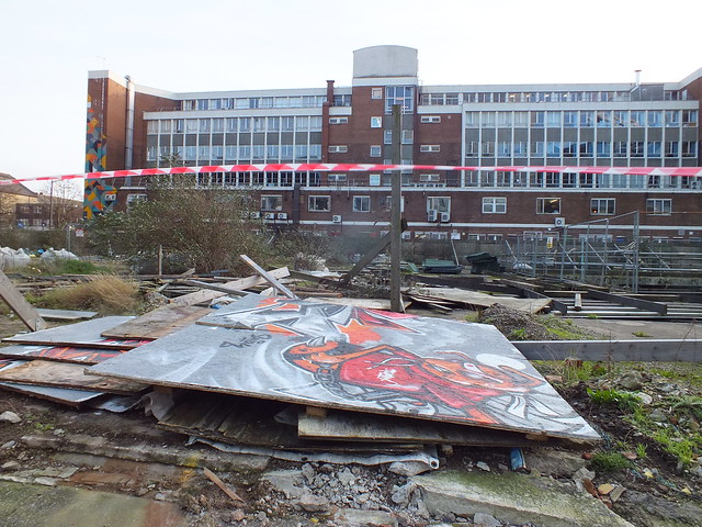 Damage to the Empty Walls Street Jam