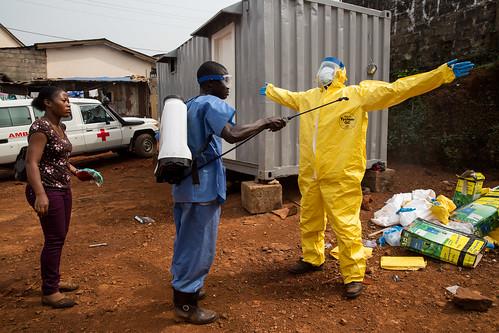 ambulance unitednations redcross ppe disinfection personalprotectiveequipment ebolaresponse unmeer unitednationsmissionforebolaemergencyresponse photomartineperret