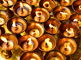 Candles - Boudhanath, Nepal (24.03.2014)