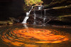 Golden Swirls of Mize Mill Falls - 8261 by J & W Photography