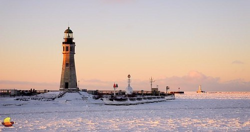 winter light sunlight lighthouse lake snow ny newyork ice sunrise river landscape outdoors photography frozen buffalo lakeerie waterfront greatlakes erie buffaloriver