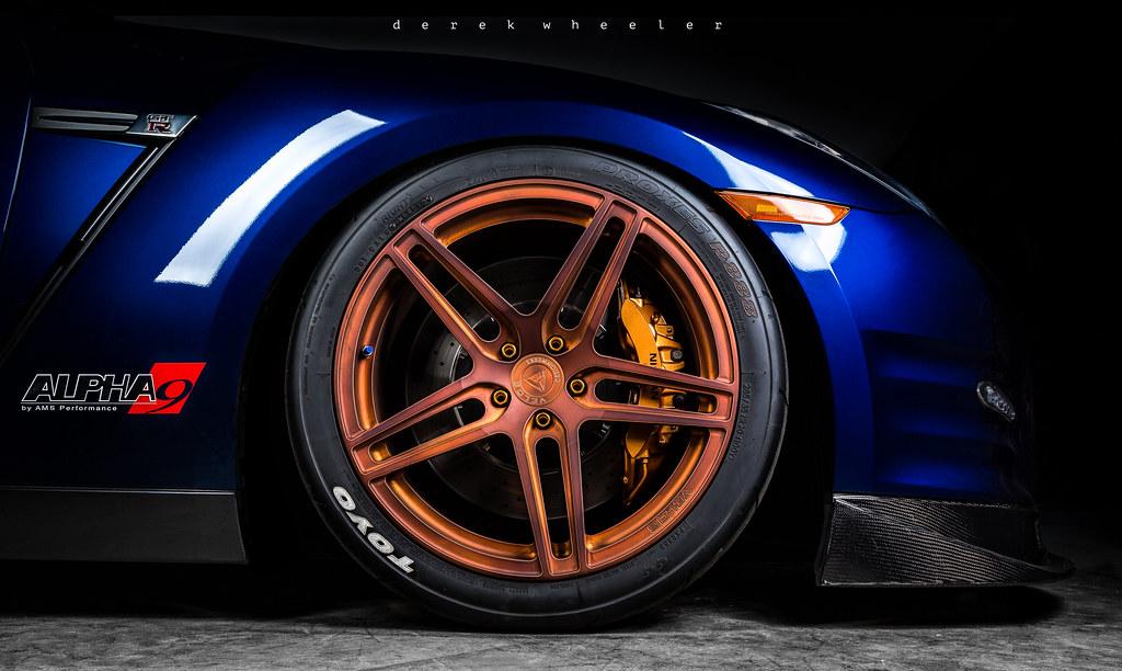 alpha 9 nissan gtr on velos s1 forged wheels