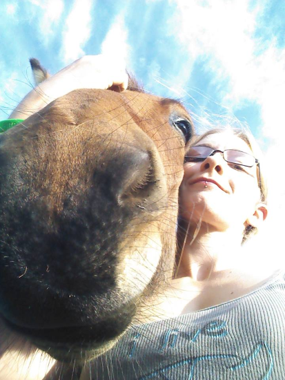 Selfie with mule