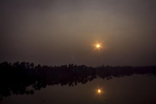 morning sunrise canon river kerala 1855 cochin kochi ernakulam eloor 1000d