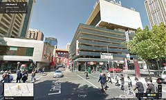 Google Street View - corner of Russell Street and Little Bourke Street, Melbourne
