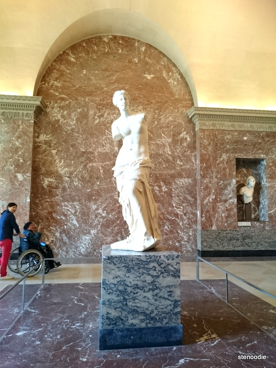 Venus de Milo on display in the Louvre