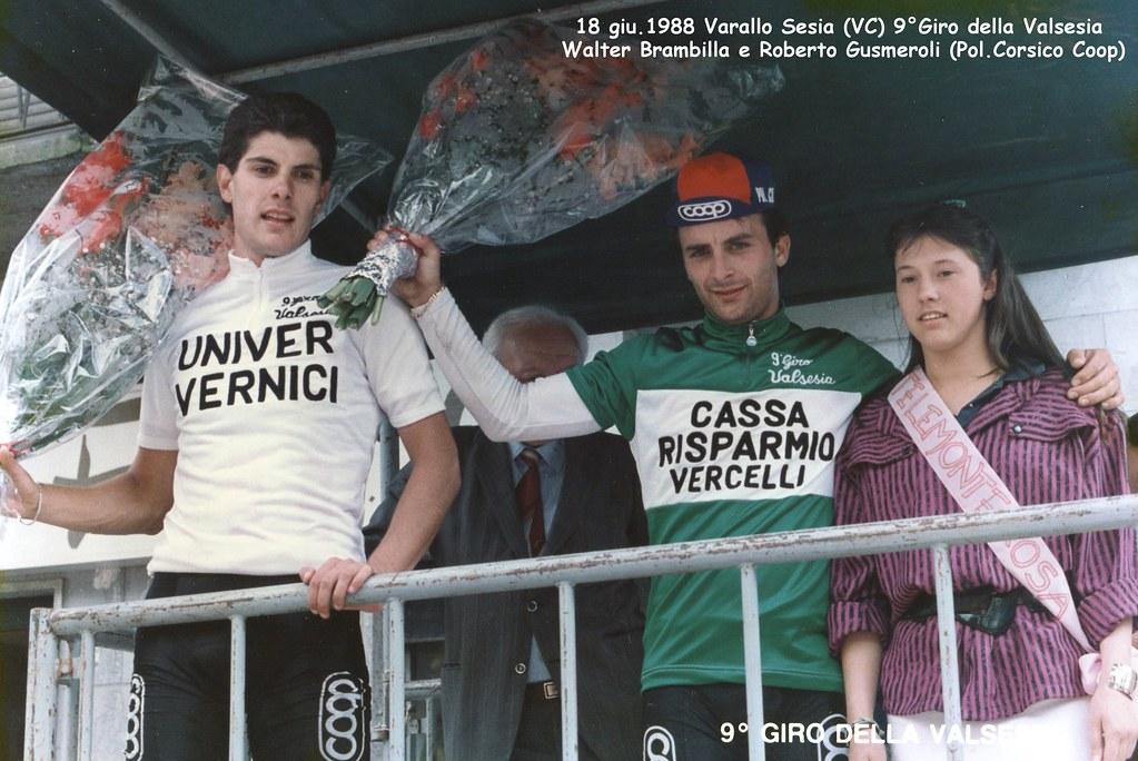 Giro della Valsesia 1988 - Walter Brambilla e Roberto Gusmeroli alla premiazione
