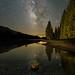 Milky Way Reflection Along Tioga Pass Road by Jeffrey Sullivan