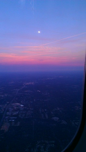 Sunset from plane - Atlanta