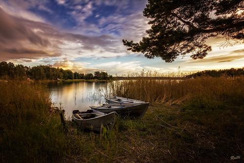 longexposure sunset sea sky landscape boats sweden djurö globalaward2014
