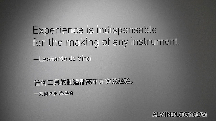 A quote from da Vinci on music