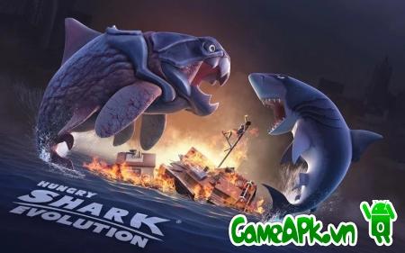 Hungry Shark Evolution v3.5.4 hack full tiền & kim cương cho Android