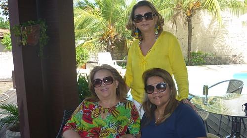 Francimary Leão com Betania Conrado e Vânia Pinheiro