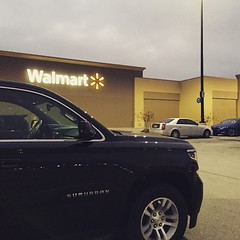 American style: going shopping for eggs and bacon in Walmart at 7.15 AM.