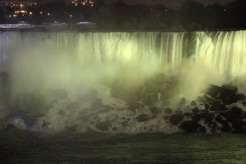 Niagara Falls Ontario ~ Canada ~ Night Lights of The American Falls