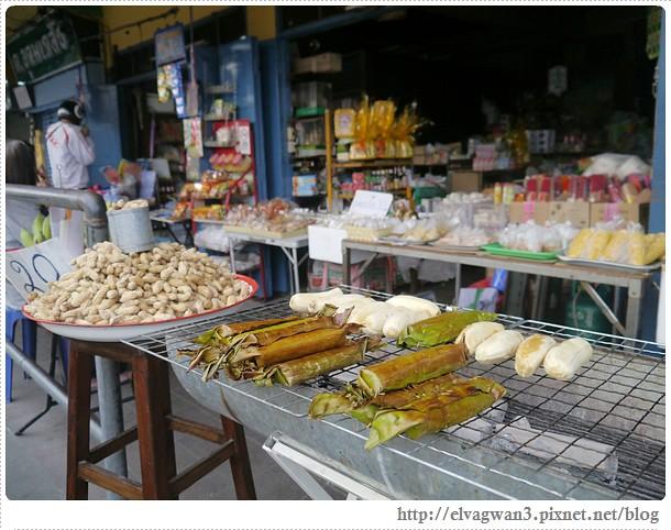 泰國-泰北-清邁-Somphet Market-Tip's Best Fresh Fruit Smoothie-市場-果汁攤-酸奶水果沙拉-燕麥水果優格沙拉-香蕉Ore0-泰式奶茶-早餐-9-590-1