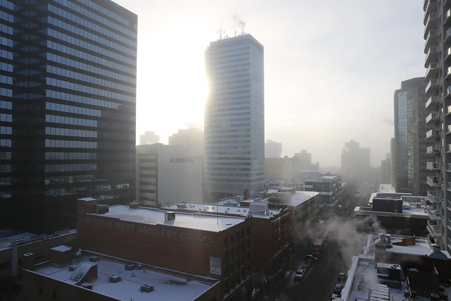 Cold day in Edmonton