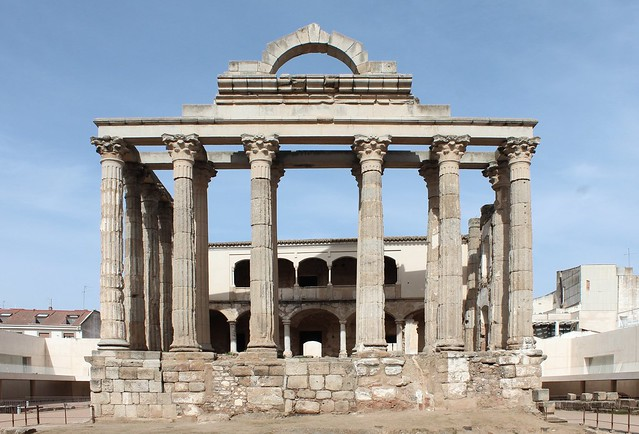 ROMAN TEMPLE OF DIANA ENVIRONMENTS IN MERIDA