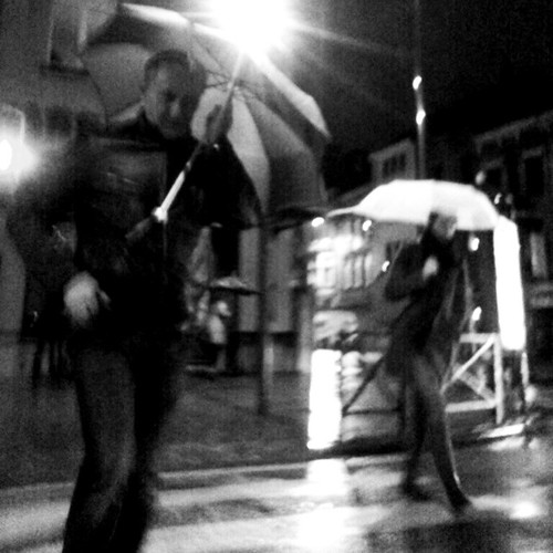 'January' - #brussels #belgium #photography #bw #smartshots #people #rain #umbrella