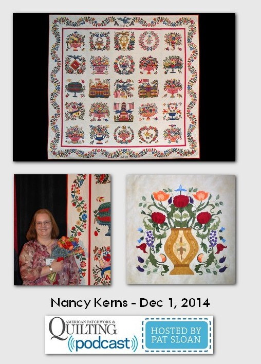 American Patchwork and Quilting Pocast Nancy Kerns Dec 2014