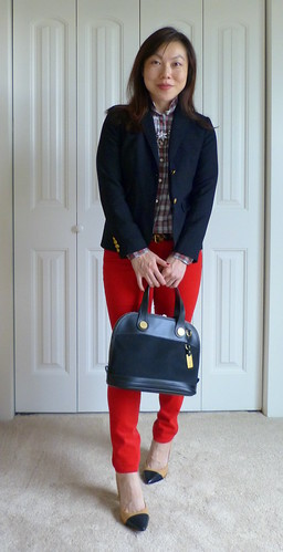 plaid + red cords