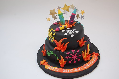 bonfire night cake with fireworks beautiful birthday cakes on birthday cakes fireworks