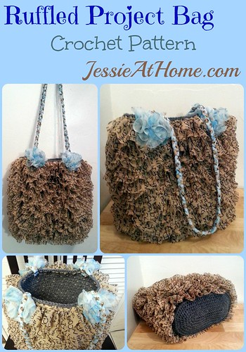 Ruffled Project Bag Free Crochet Pattern by Jessie At Home