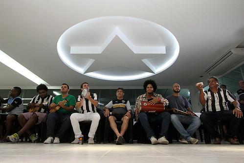 Léo Russo e Dom Elias na concentração do Botafogo