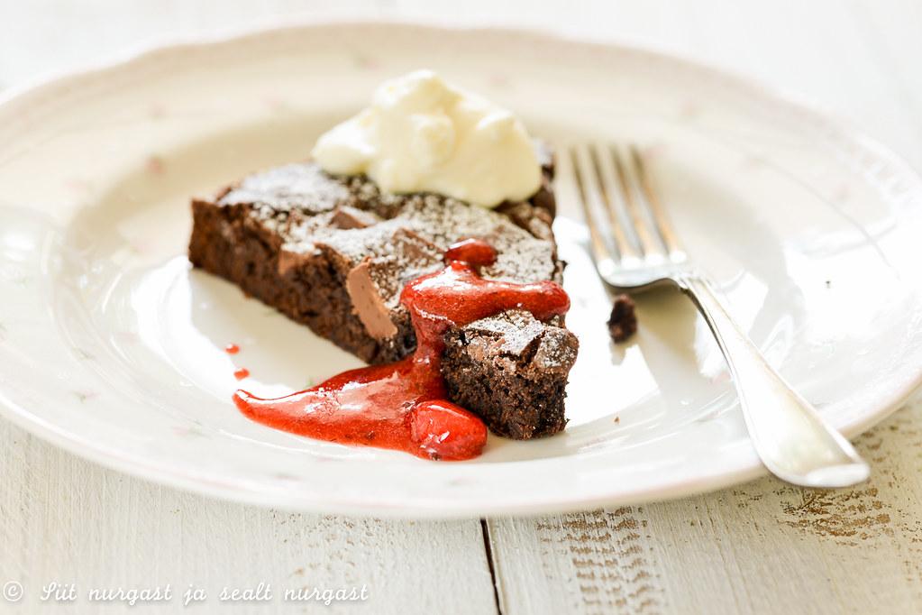 kladdkaka ehk Rootsi šokolaadikook