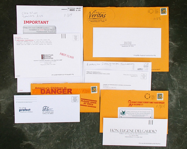 5 Random Political Junk Mail