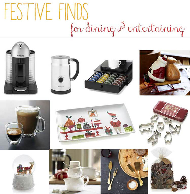 cute & little blog | holiday dining entertaining decor nespresso gift guide | #festivefinds