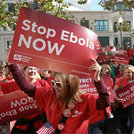 Nurses demand better Ebola protection at Oakland rally