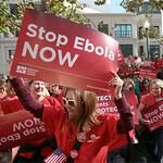 Nurses demand better Ebola protection at Oakland rally