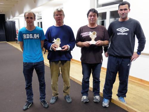 11/11/2014 - Saint Jean du doigt : Les finalistes du concours de boules plombées en doublettes formées