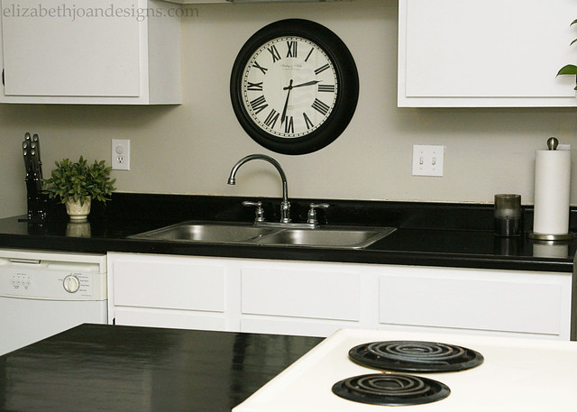 Black Painted Counter Tops