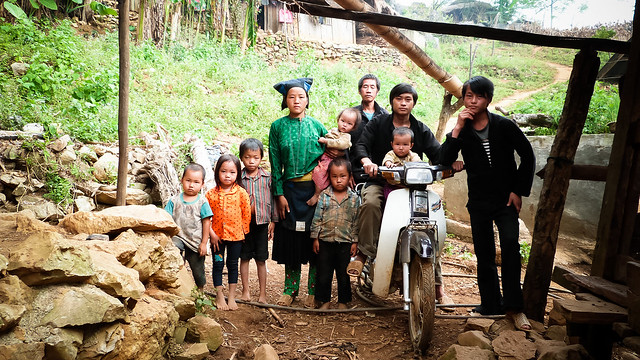 A family in Phe Pha village