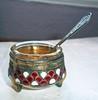 Vintage Russian enamel cloisonne salt cellar
