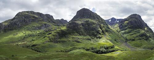panorama cliff mountain landscape scotland highlands hill glencoe crag bideannambian aonachdubh gearraonach beinnfhada rocohgr