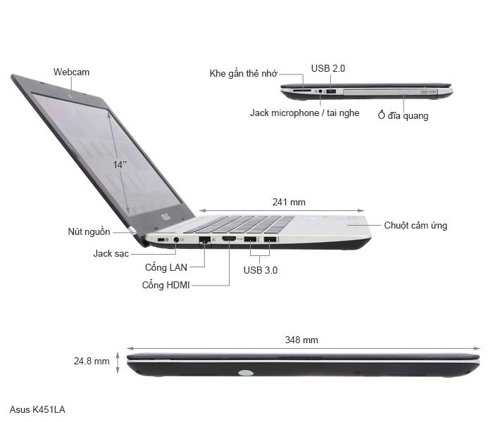 ASUS K451LA thế hệ laptop tầm trung mới - 57161