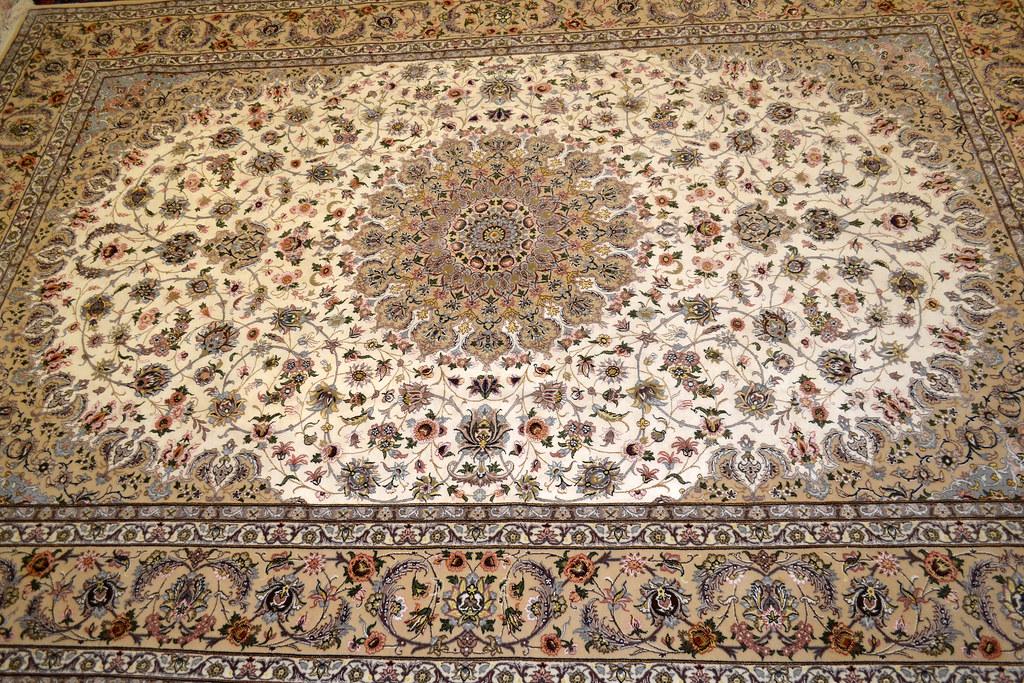 Pair Isfahan Esfahan Kaf Abrisham 7x10 persian Fine Area Rug (17)