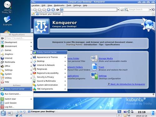Trinity desktop környezet r14.0.0 - Trusty Live CD