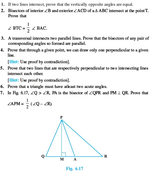 Class 9 Important Questions for Maths - Lines and Angles