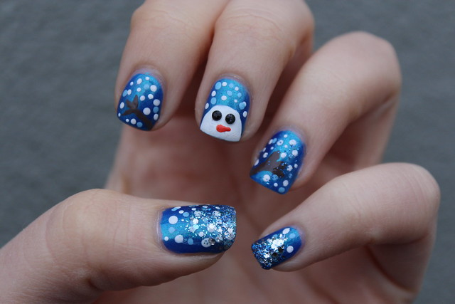 Snowman Manicure | Holiday | #LivingAfterMidnite