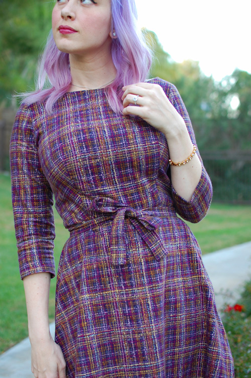 Heart of Haute Mitzi dress in Pendleton Plum 020