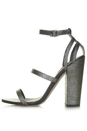topshop revenge metallic sandals gunmetal