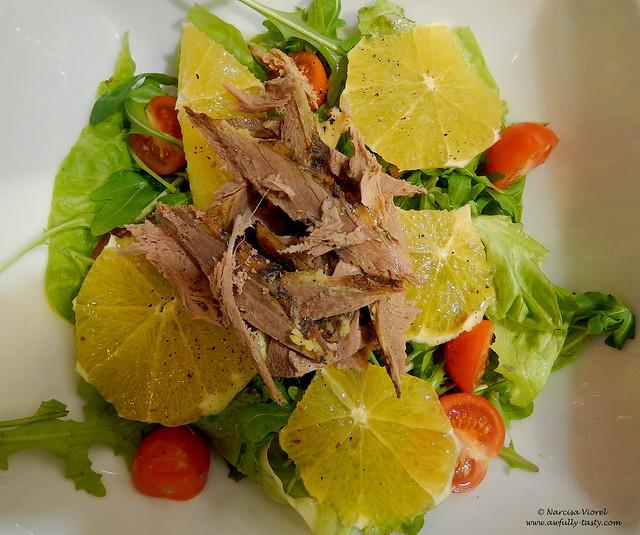 Salata cu rata si portocala