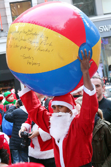 SF Santacon: Beachball