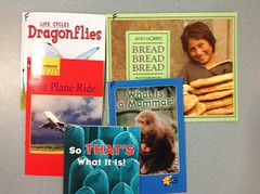 Science readers Levels C - N One copy of each title for community use.  You can find the box in the library book closet.